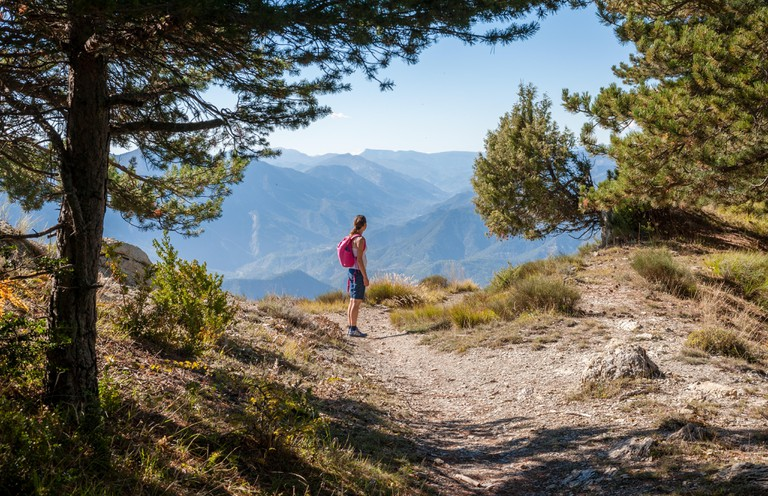 Hiking in the Maritime Alps, Vesubie Valley, Mercantour National Park, Nice, France. Image shot 10/2015. Exact date unknown.