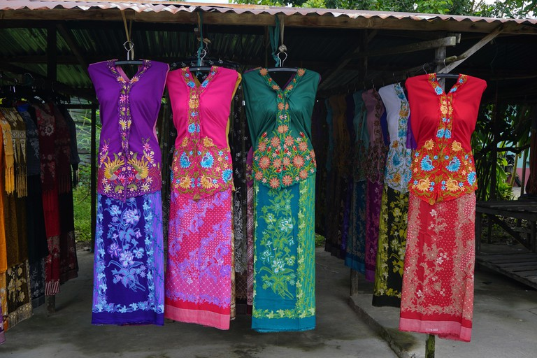 Kebaya for sale on stall