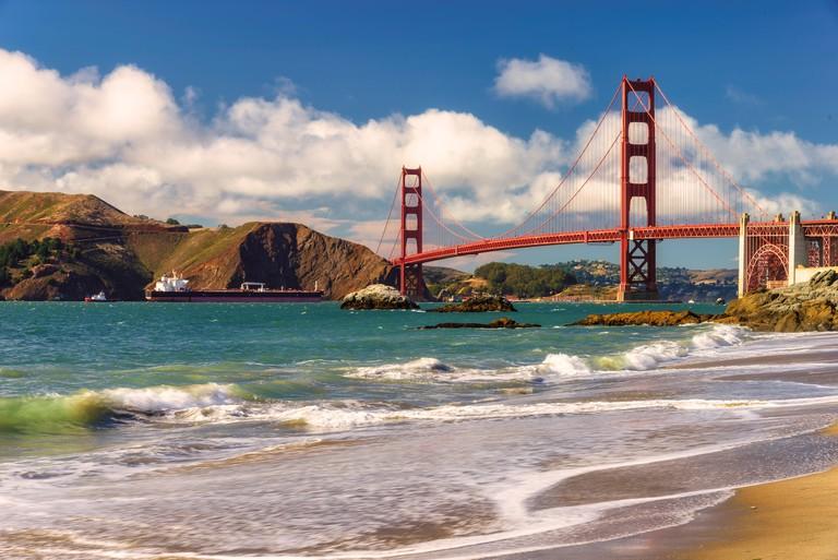 Golden Gate Bridge from Marshall Beach, San Francisco