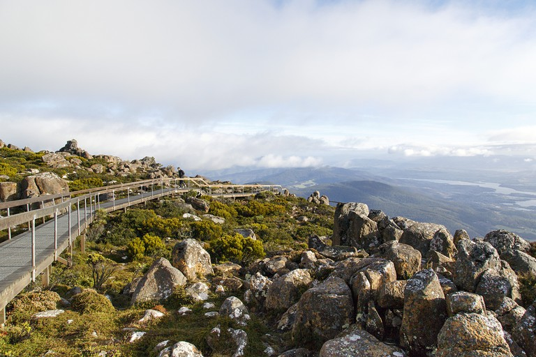 Pinnacle Observation Shelter - Mount Wellington Tasmania