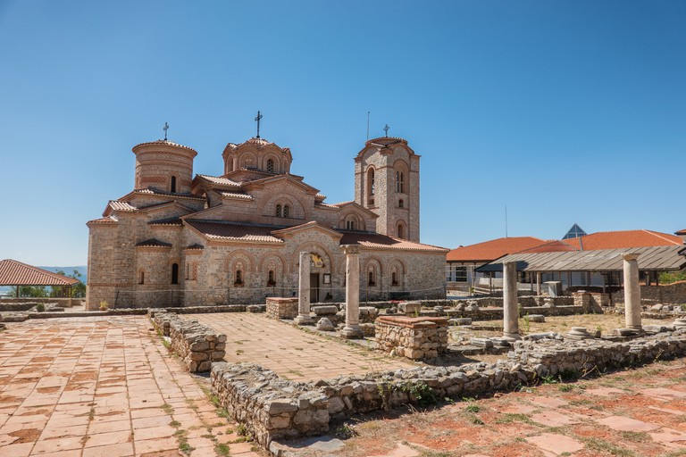 Basilica of St Clement in Ohrid in Macedonia