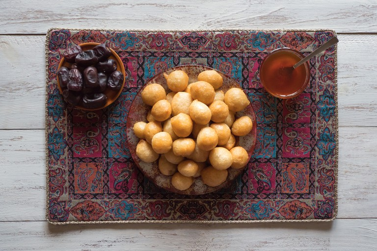 Arabic traditional Ramadan dessert Zalabya.