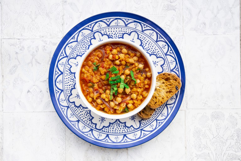 Turmeric and lentil soup