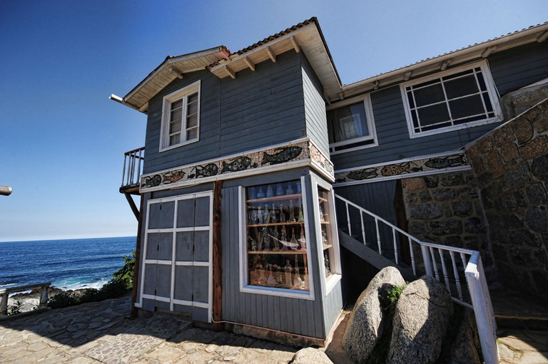 Tthe house of Chilean poet Pablo Neruda in Isla Negra resort located some 150 km west of Santiago