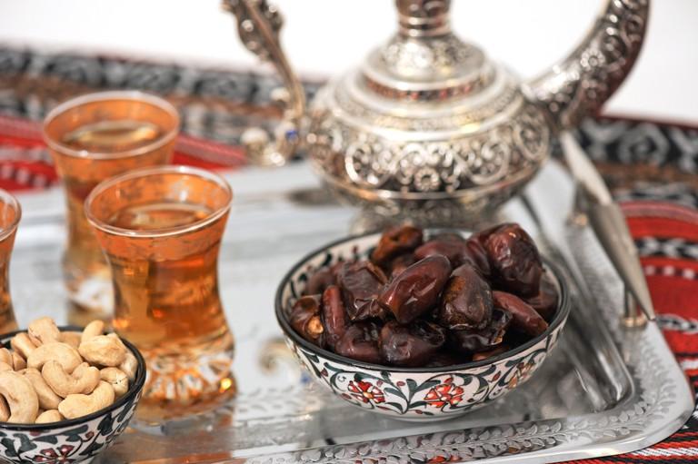 Dates and tea for Ramadan