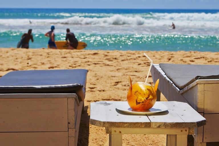 Coconut Cocktail on the beach in Hikkaduwa - Sri Lanka