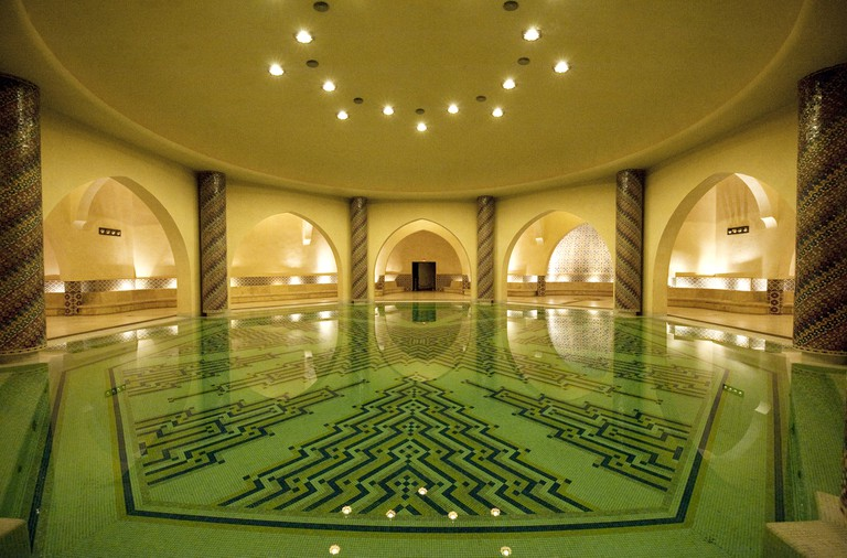 Hassan II Mosque, the large public bathhouse (hammam) beneath the mosque