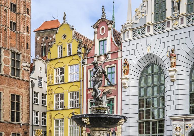 Neptune's Fountain Statue Gdansk