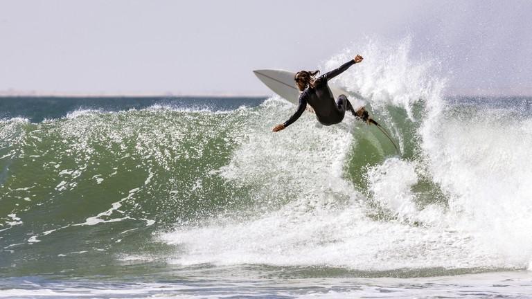Surfing in Western Sahara
