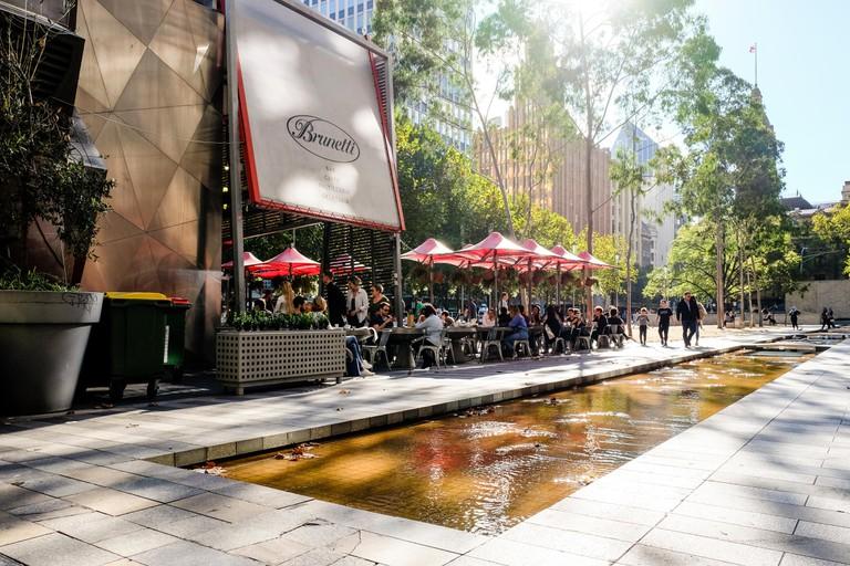 Brunetti cafe, City Square, Swanston Street, Melbourne, Victoria, Australia