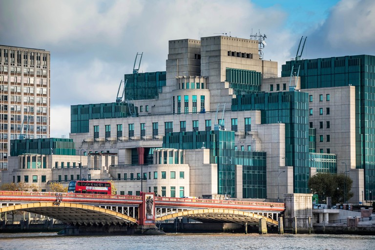 SIS building housing MI5 and MI6 Secret Service, London
