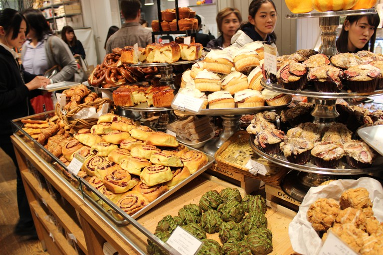 A selection of fresh pastries in Japan