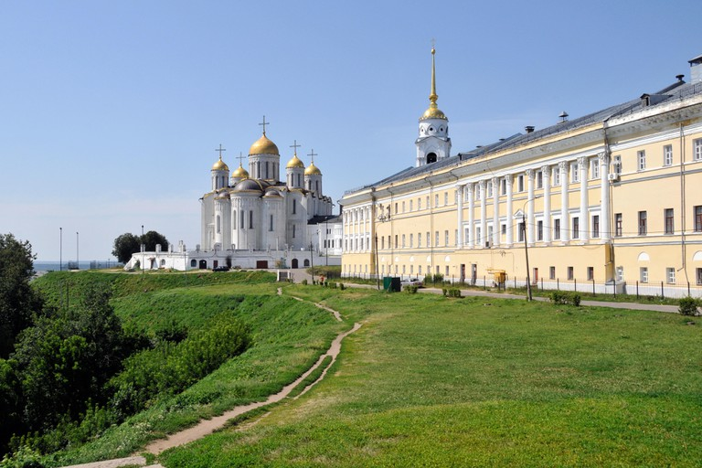 Dormition cathedral of Vladimir City, Russia.