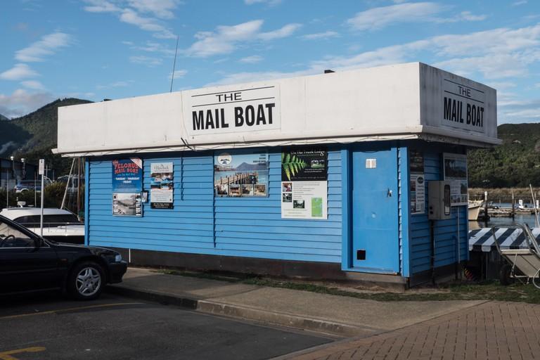 Pelorus Mail boat Reception Office, Havelock, South Island, New Zealand.