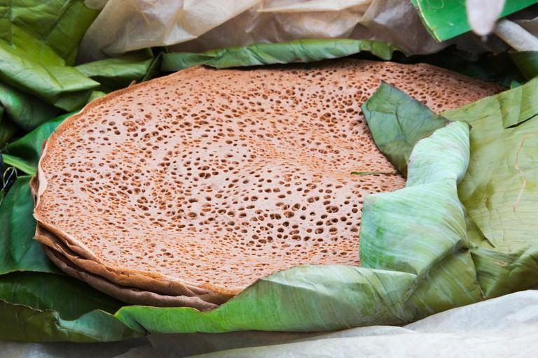 Injera flat bread, Ethiopia