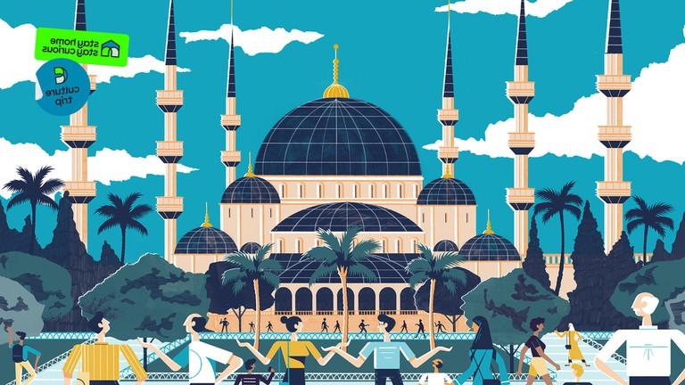 Istanbul city illustration