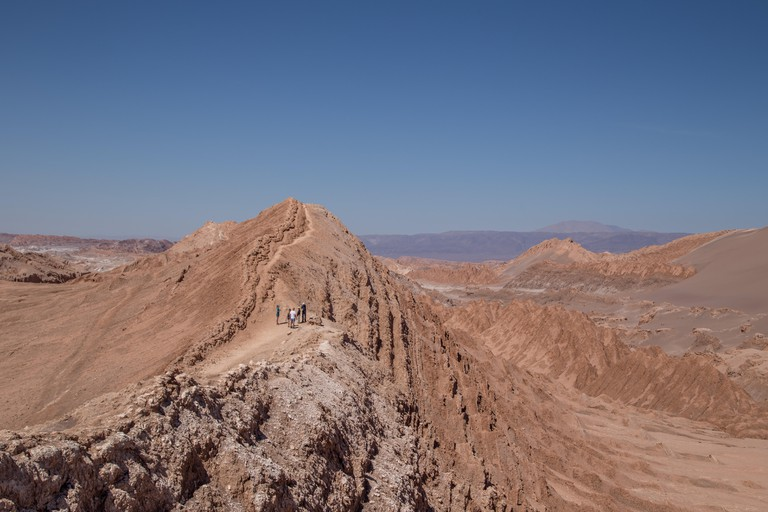 Valle de la Luna (Moon Valley) in the Atacama Desert, one of the driest places on earth