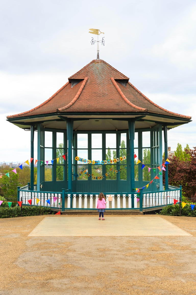 The restored Bandstand, Horniman Gardens, Forest Hill, London