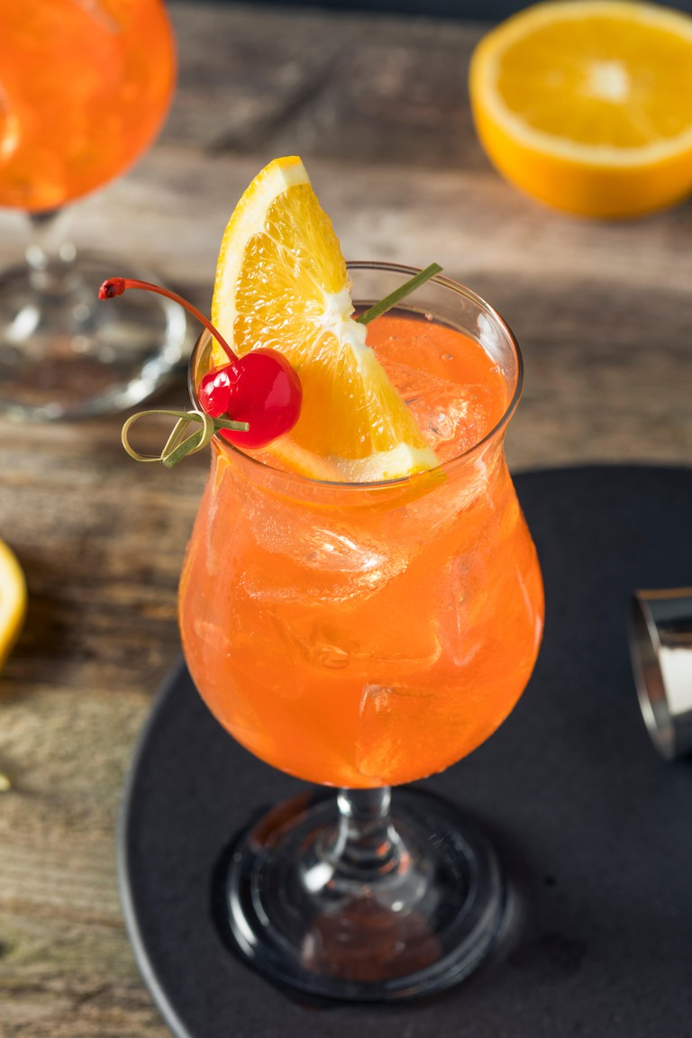 Singapore Sling Cocktail with Rum and Pineapple