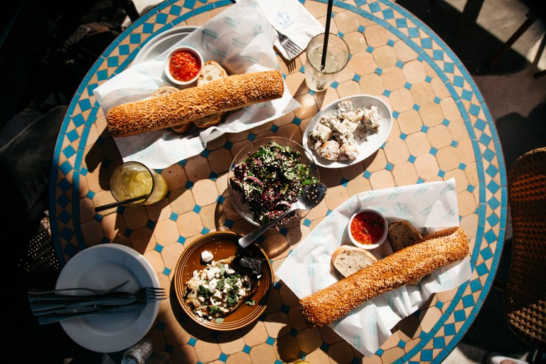 Local food in Jaffa