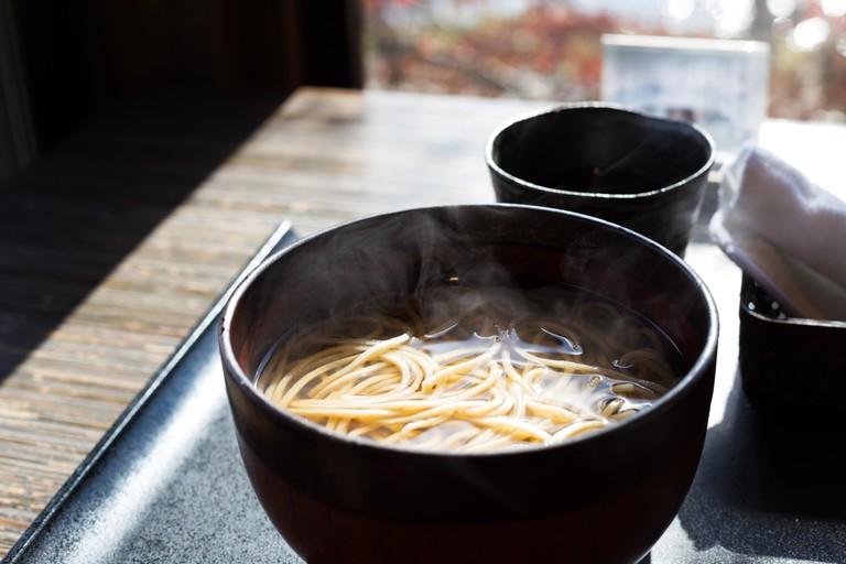Japanese buckwheat noodles Soba