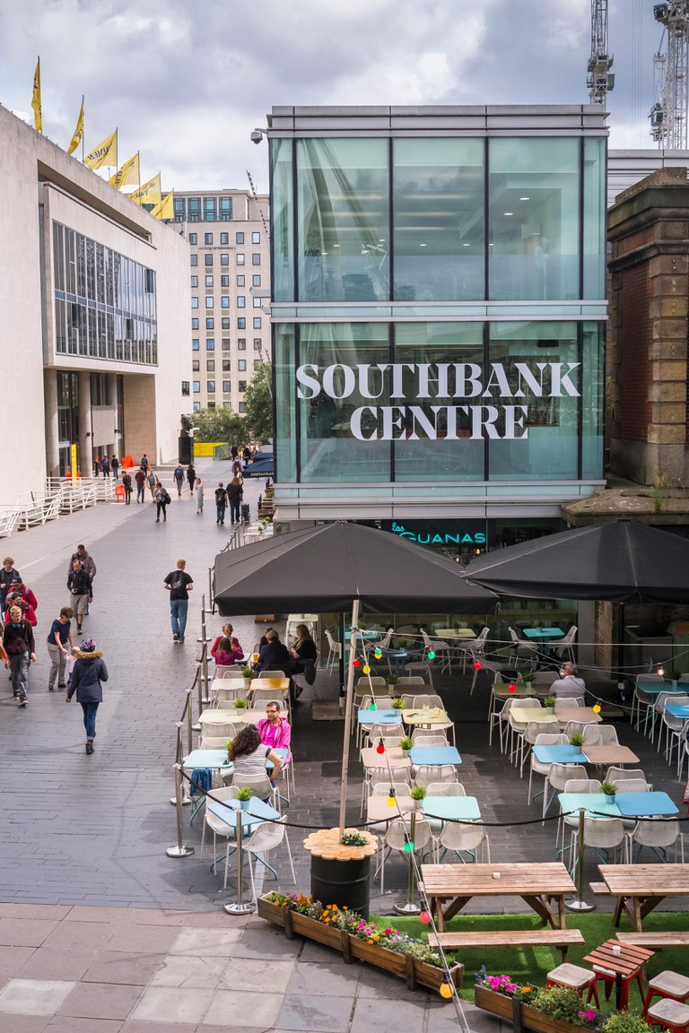 Popular entertainment and dining location, Southbank Centre, London, UK