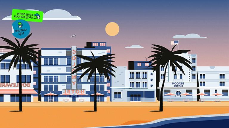 Miami beach illustration