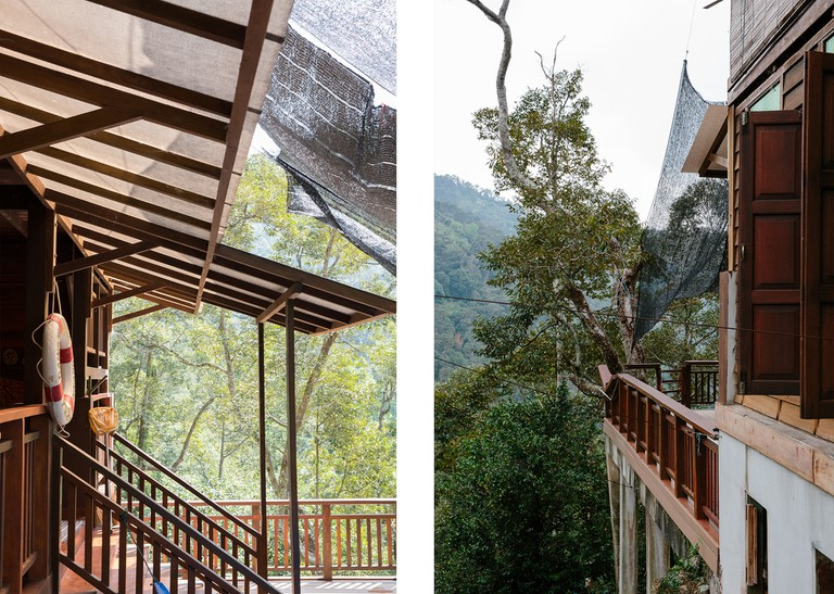 Guests staying at Green Acres are treated to sweeping views of the mountains and durian trees that surround the main house.