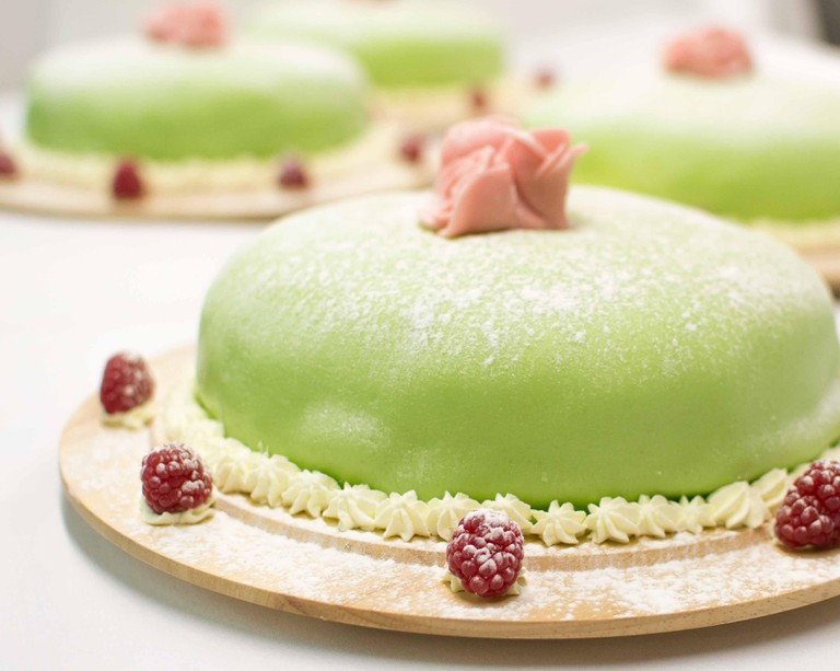 National Swedish cake 'Princess cake'