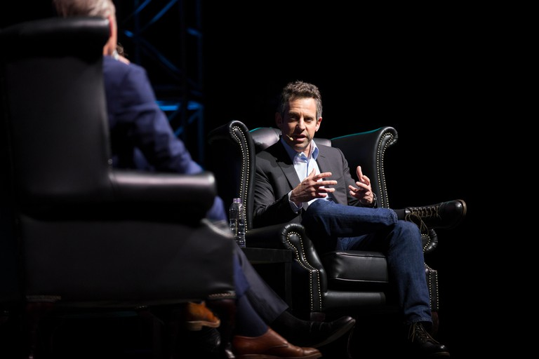 Psychologist Jordan Peterson, the world's most controversial intellectual, debated with atheist Sam Harris front of 6000 spectators at London 02 Arena