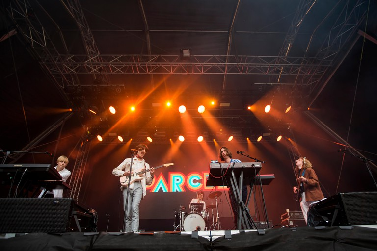 The Australian band Parcels performs a live concert during the Norwegian music festival Bergenfest