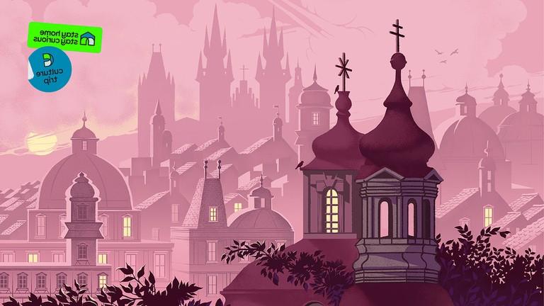 prague city scape illustration