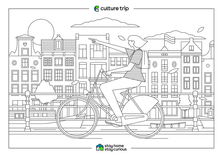 Stay Home - Stay Curious Colouring book-AMSTERDAM