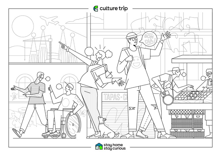 Stay Home - Stay Curious Colouring book-BARCELONA