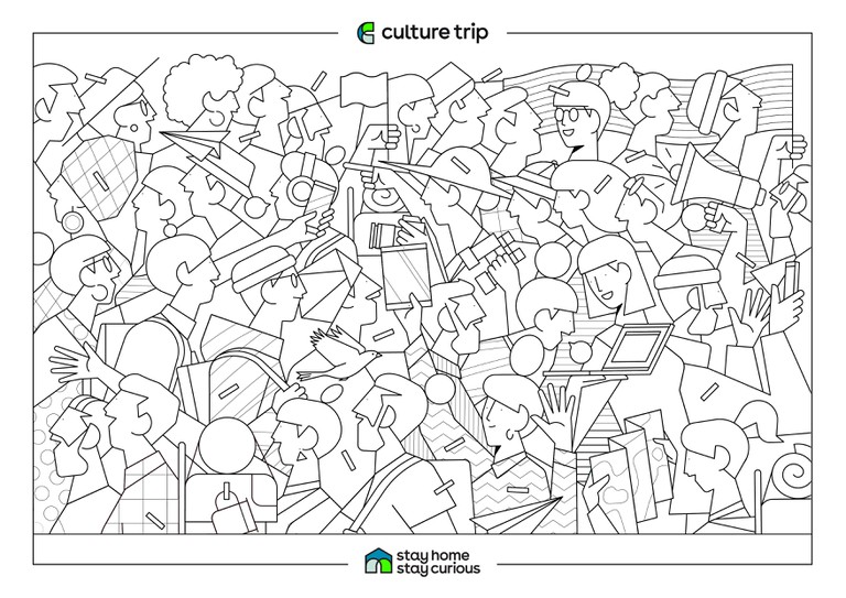 Stay Home - Stay Curious Colouring book-CT ILLO