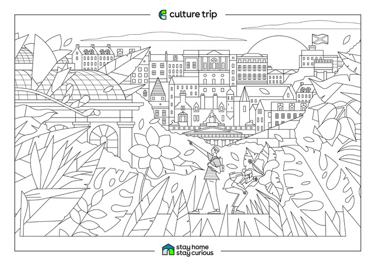 Stay Home - Stay Curious Colouring book-EDINBURGH