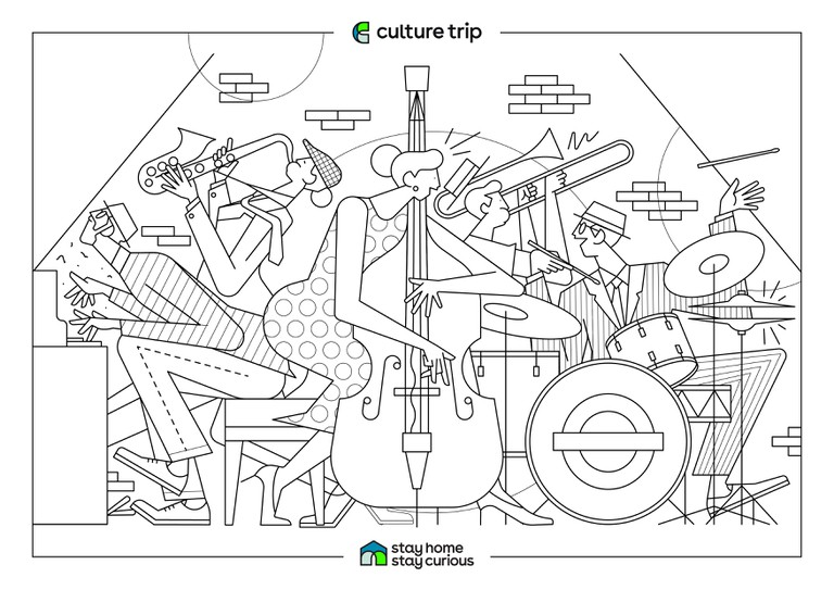 Stay Home - Stay Curious Colouring book-LONDON JAZZ