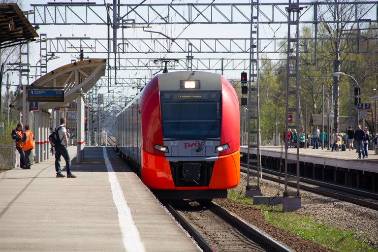 New train of the Moscow Central Railway Circle of the MCC