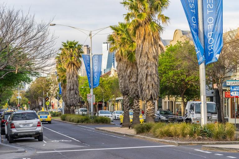 Melbourne, Australia - Bay St - the main shopping street in Port Melbourne suburb