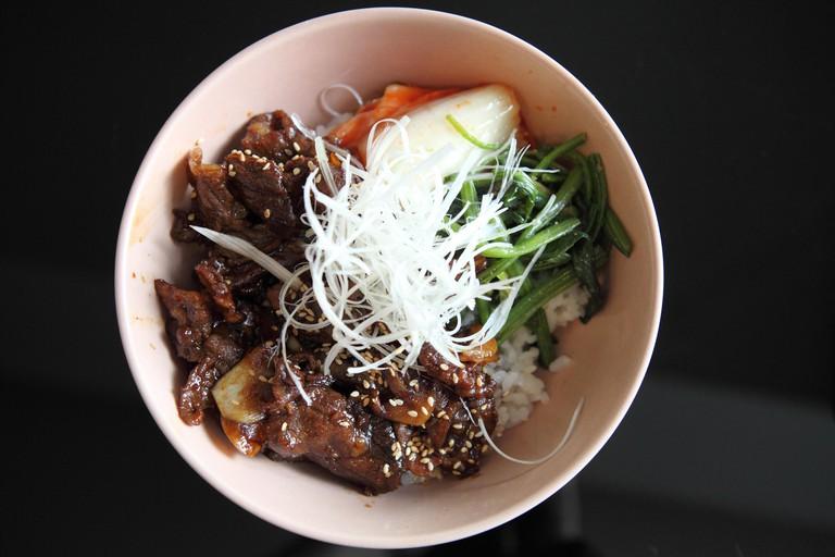 Gyudon, Japanese beef rice bowl
