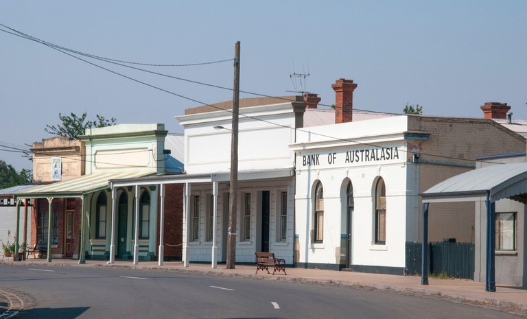 Historic main street of Talbot, Central Victorian Goldfields