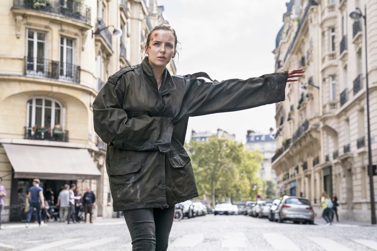 USA. Jodie Comer in a scene from the ©BBC new series : Killing Eve - season 2 (2019) . Plot: New season of the hit series that brought Sandra Ohs Golden Globe.Ref: LMK106-J4161-080119Supplied by LMKMEDIA. Editorial Only.Landmark Media is not the