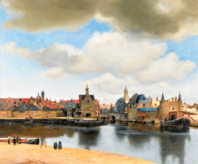 Johannes Vermeer, View of Delft, landscape painting, 1660-1661