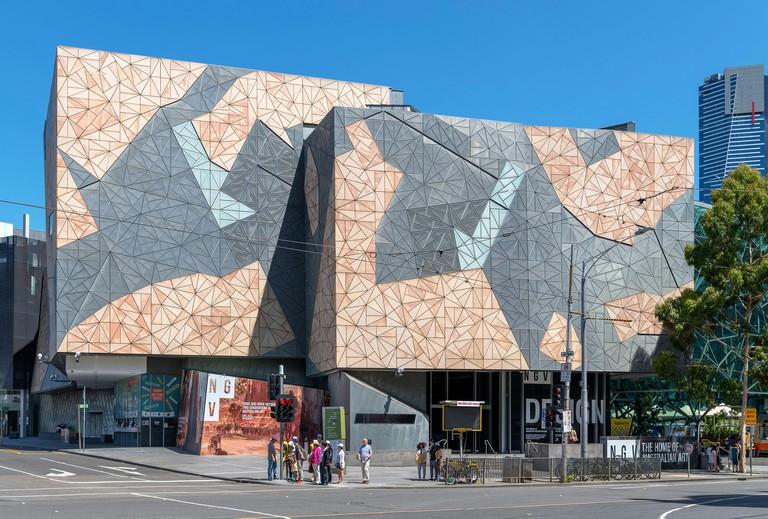 Ian Potter Centre: NGV Australia, part of the National Gallery of Victoria, Federation Square, Melbourne, Victoria, Australia