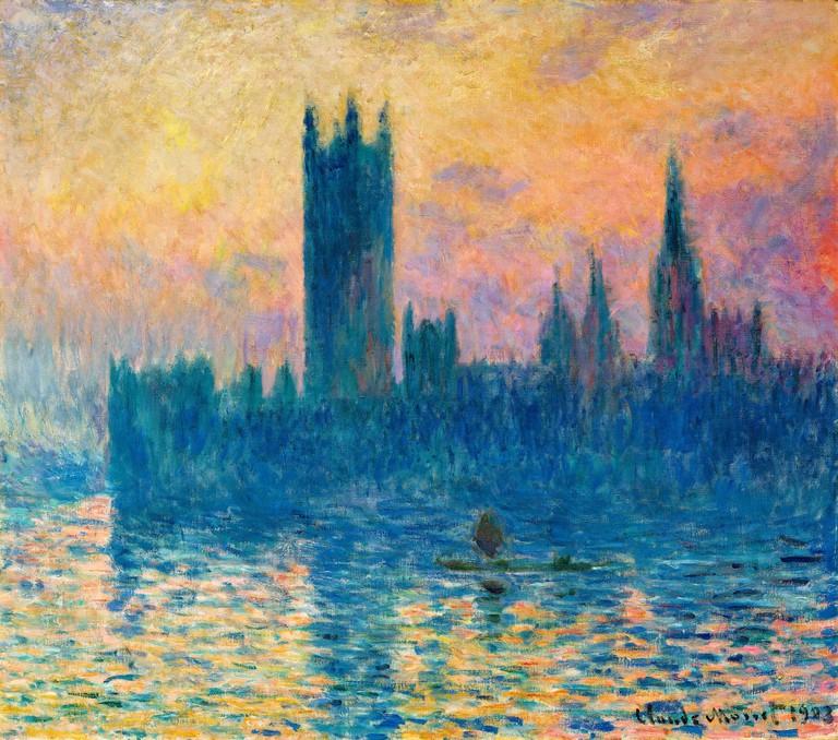 Claude Monet, landscape painting, The Houses of Parliament, sunset, 1903