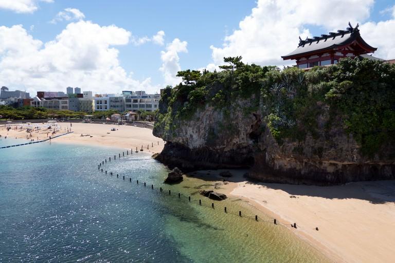 Naminoue shrine near beach in Naha, Okinawa, Japan.