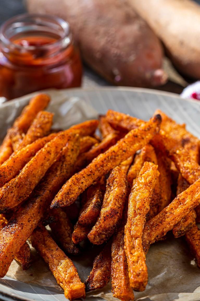 Baked sweet potato fries.