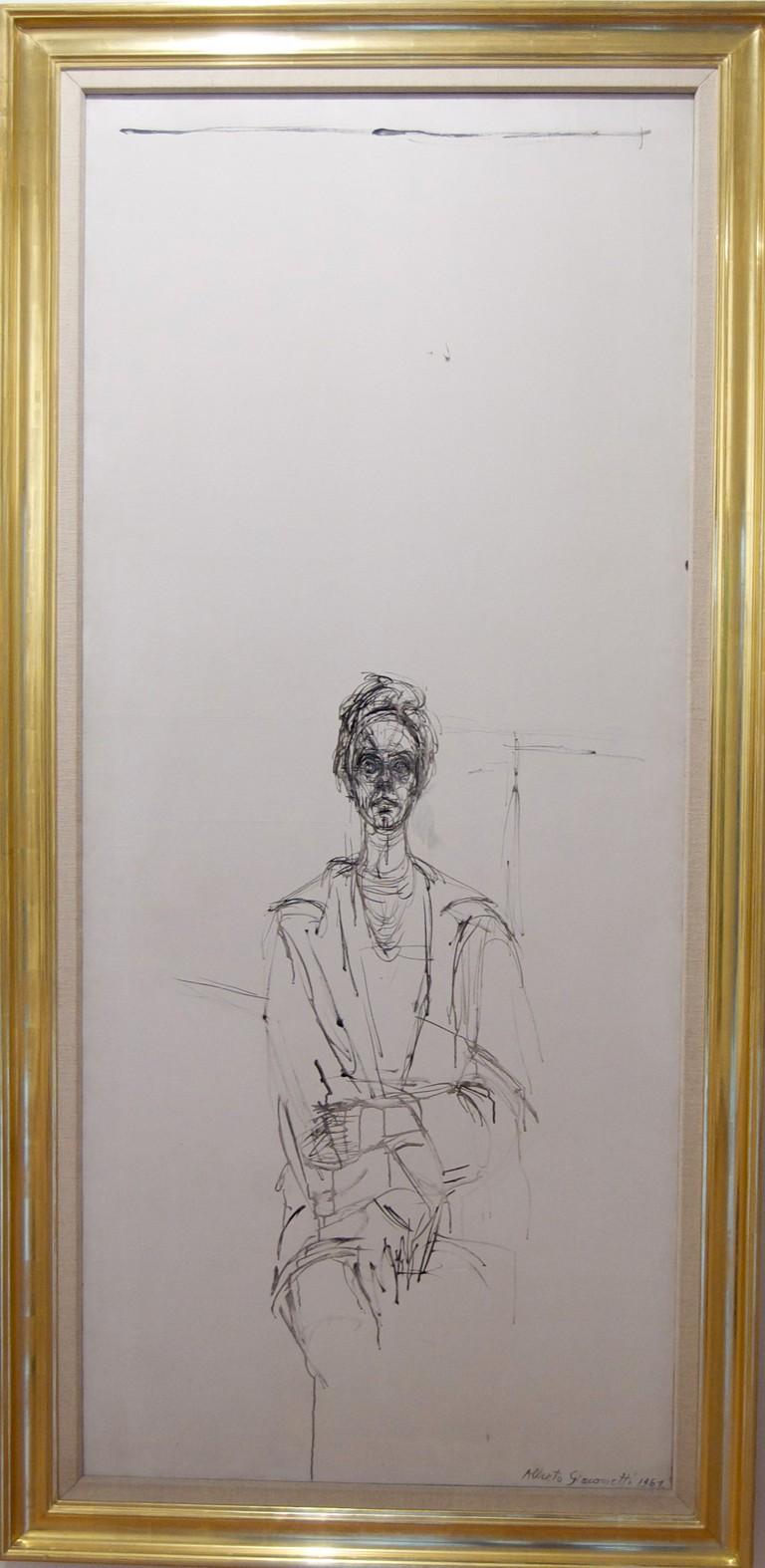 Alberto Giamotti, 'Carolina Sobre Fondo Blanco', 1961