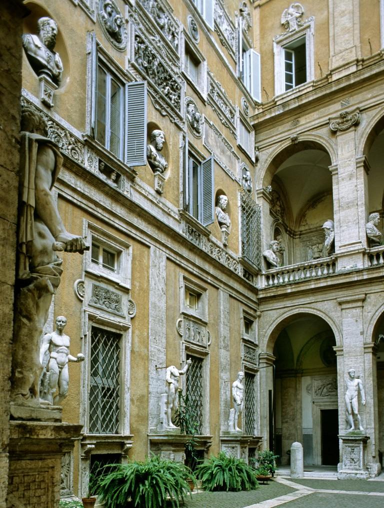 Palazzo Antici Mattei, Jewish Quarter, the former ghetto, Rome, Lazio, Italy, Europe