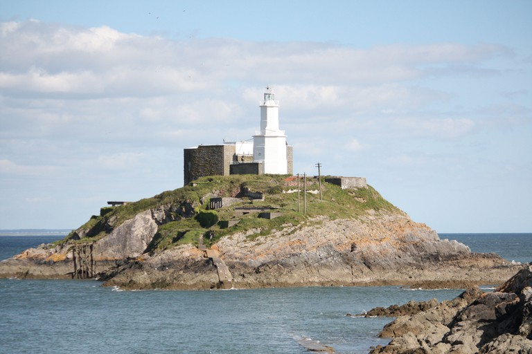 light house in the Mumbles, Swansea in South wales